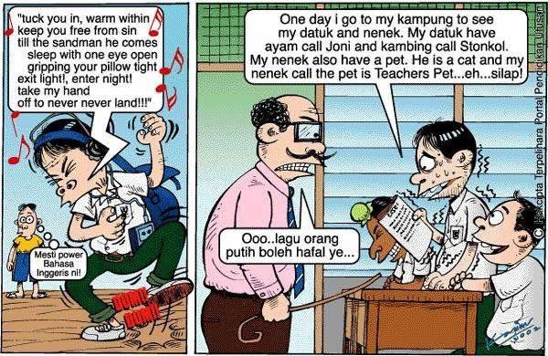 Lawak Bahasa Inggeris di sekolah…..(Sumber: email)