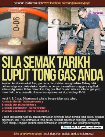 semak tarikh tong gas